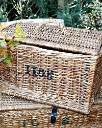 Large Vintage French Brocante Market Fowl Basket 1108