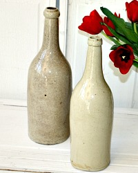 Antique French Stoneware Wine or Cider Bottle