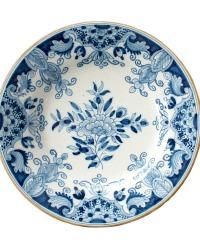 Tichelaar Delft Blue Makkum Hand Painted Floral Plate B