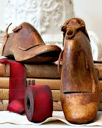 Antique Gentleman's Hand Carved Wood Shoe Forms