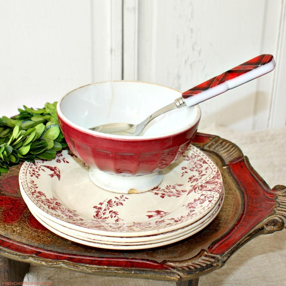antique french cafe au lait bowl rouge. Black Bedroom Furniture Sets. Home Design Ideas
