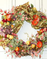 French Inspired Provence Orchid Wreath Large