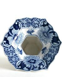 Delft Blue Tichelaar Makkum Hand Painted Vase