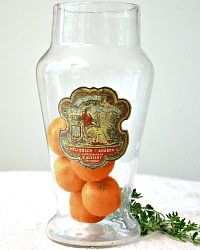 Antique French Glass Apothecary Jar d'Oranges