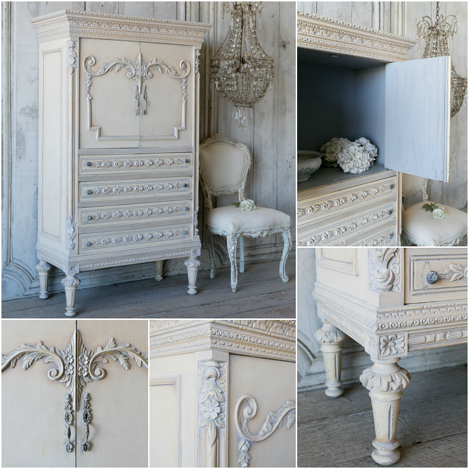 eloquence one of a kind petite armoire hand painted french. Black Bedroom Furniture Sets. Home Design Ideas