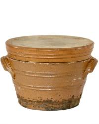 Antique French Pot en Gres Storage Crock Jar Brittany Rilettes