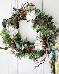 Luxury One of a Kind Designer French Hiver Enchante Wreath