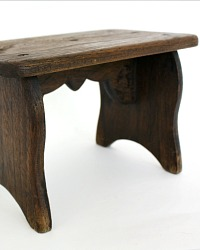 Antique French Nun's Wood Footrest