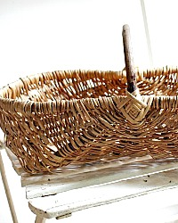 Antique French Grape Harvest Gathering Basket