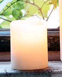 Flameless Wax Pillar LED Candle with Remote Medium