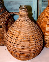 French Bonbonne Basket Bottle A