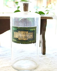 Antique French Pharmacie Ether Officinal Bottle
