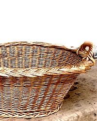 French Wicker Basket 1930's