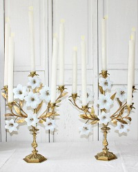 19th Century French Ecclesiastical Gilt Bronze Candelabra Pair