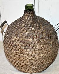 Antique French Large Provence Demijohn Bottle Dame Jeanne