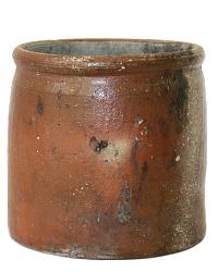 Antique French Pot en Gres Storage Crock Jar Brittany