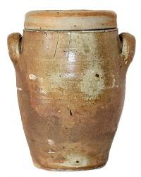 Antique French Pot en Gres Storage Crock Jar Brittany Large