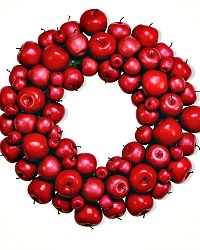Large French Country Faux Red Apple Wreath