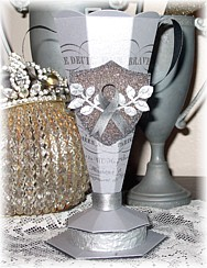 Trophy Candy Container Denise Sharp Glitter Shield-vintage, Paper,Loving Cup, Gift, Birthday ,