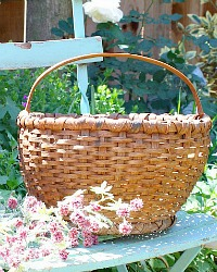 Antique Splint Farmhouse Gathering Basket